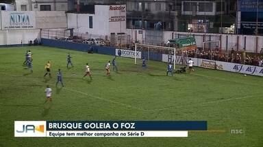 Brusque ganha de goleada em mais um jogo da Série D - Brusque ganha de goleada em mais um jogo da Série D