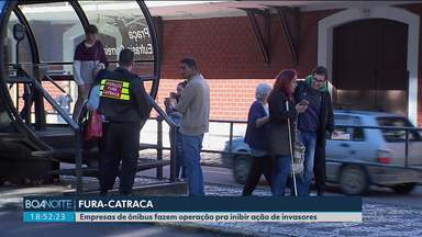 """Operação em Curitiba visa combater os """"fura-catraca"""" - Empresas contrataram seguranças para inibir a ação dos invasores"""