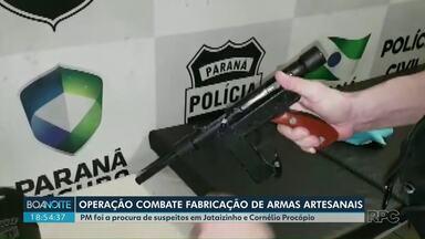 Operação da polícia prende suspeitos de fabricar e distribuir armas artesanais - Onze pessoas estão na cadeia. Algumas já estavam presas.
