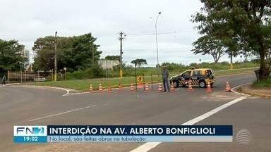 Avenida Alberto Bonfiglioli passa por interdição nesta quarta-feira - Obras na rede de esgoto serão realizadas no local.