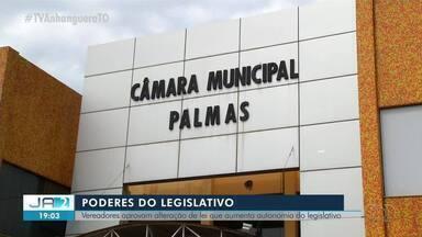Vereadores de Palmas aprovam projeto para aumentar a autonomia do Legislativo - Vereadores de Palmas aprovam projeto para aumentar a autonomia do Legislativo