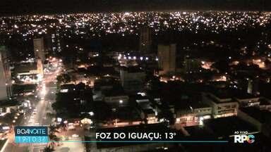 Temperaturas continuam abaixo dos 25 graus em Foz - Amanhã a máxima para Francisco Beltrão é de 18 graus e para Pato Branco máxima de 19 graus.