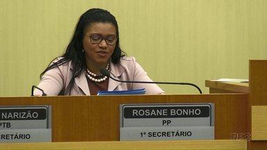 Vereadora Rosane Bonho do PP, pode perder o cargo - Foi protocolado hoje (04) um pedido de perda de mandato para a vereadora Rosane Bonho.