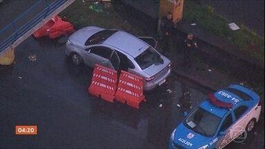 Suspeito de roubar carro no RJ é morto durante perseguição - Suspeito de roubar carro no RJ é morto durante perseguição.