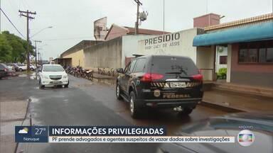 PF prende advogados e agentes da corporação suspeitos de vazar dados sobre investigações - Documentos de operações da Polícia Federal foram encontrados na casa de Andrea Neves, irmã do deputado federal Aécio Neves (PSDB/MG).