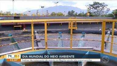 Índices de tratamento de esgoto são preocupantes no Sul do Rio - Para melhorar essa situação, é preciso investimento.