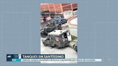 Exército cumpre mandados de busca e apreensão em Santíssimo - Dois militares estão presos por desvio de munições na Vila Militar de Deodoro