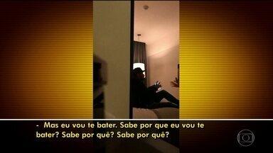 Vídeo que circula na internet mostra modelo agredindo Neymar em quarto de hotel - Está circulando em aplicativos de troca de mensagens e na internet um vídeo que mostra o atacante Neymar e a mulher que o acusa de estupro em um quarto de hotel. As cenas teriam sido gravadas no dia seguinte ao do encontro em que, segundo ela, teria acontecido o estupro.