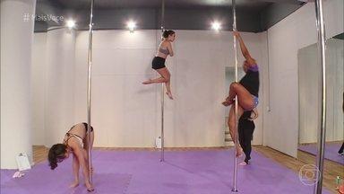 Pole dance é um exercíco para qualquer idade! - Sandra e Fernanda mostram que a barra vertical é uma atividade que pode ser praticada por qualquer um