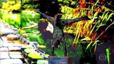 O 'Camaleão' se apresenta no Gonga La Gonga - Os jurados aprovam a performance