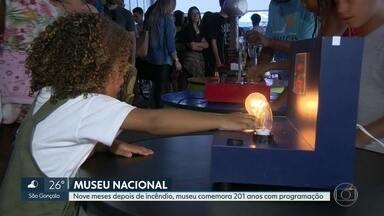 Museu Nacional comemora 201 anos com atividades na Quinta da Boa Vista - Nove meses depois de incêndio que destruiu acervo, museu faz planos de reconstrução.