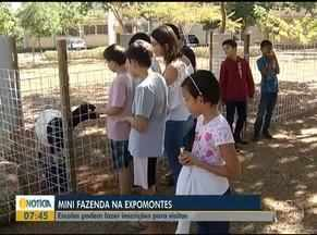 Com um mês para a Expomontes, escolas já podem fazer inscrições para visitas ao Parque - Cada escola pode levar cerca de 50 alunos por visita.
