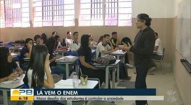 Lá vem o Enem; maior desafio dos estudantes é controlar a ansiedade - Confira os detalhes com o repórter Ítalo Di Lucena.