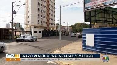 Prazo para instalação de semáforo na Rua Padre João Goetz termina - Continua tudo igual no trecho alvo de reivindicação em Presidente Prudente.