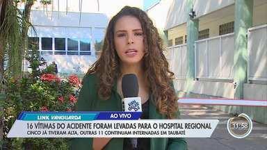 Vítimas em estado mais grave foram levadas ao Hospital Regional de Taubaté - Saiba mais informações.