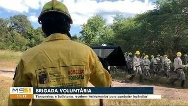 Voluntários recebem capacitação para combater incêndios - Em Corumbá.