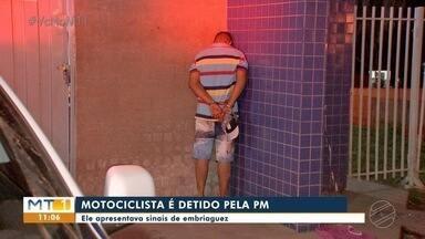 Motociclista é detido pela PM por embriaguez - Motociclista é detido pela PM por embriaguez.