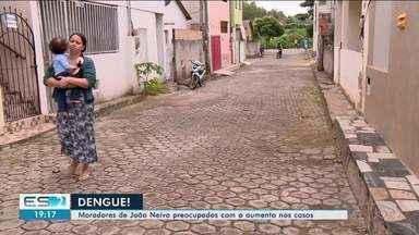 Aumenta casos de dengue em João Neiva, no Norte do ES - Moradores estão preocupados com aumento da doença.