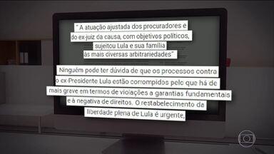 'Restabelecimento da liberdade plena é urgente', declara defesa de Lula - Para advogados do ex-presidente, 'os processos estão corrompidos pelo que há de mais grave em termos de violações a garantias fundamentais'.