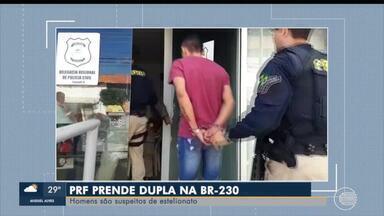 PRF prende suspeitos de estelionato na BR-230 - PRF prende suspeitos de estelionato na BR-230