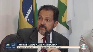 Agnelo Queiroz e três ex-secretários viram réus na Justiça - Eles vão responder por improbidade administrativa e por crime contra as finanças públicas.