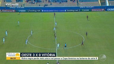 Vitória perde mais uma; noticias do Bahia e da Copa América: veja no bloco do esporte - Confira as notícias do esporte.