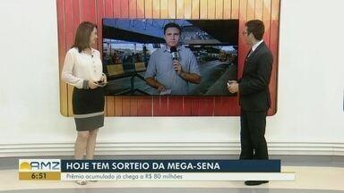 Mega-Sena pode pagar R$ 80 milhões nesta quarta - Apostas podem ser feitas até as 19h, em lotéricas ou pela internet.