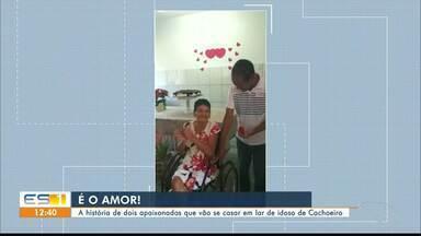 Casal que vive em Lar de Idosos ficam noivos, em Cachoeiro - Eles provam que não tem idade para o amor.