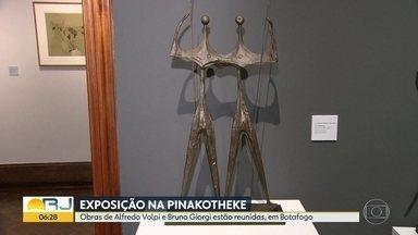 Mais de cem obras de Alfredo Volpi e Bruno Giorgi são expostas na Pinakotheke, em Botafogo - A exposição fica em cartaz até 27 de julho.