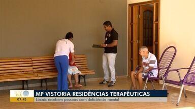 MP faz novas vistorias em casas terapêuticas, em Presidente Prudente - Locais recebem pessoas com deficiência mental.