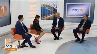Embaixador de Israel no Brasil, Yossi Shelley, cumpre agenda em Uberlândia - Shelley está na cidade desde quinta-feira (13) e se reuniu com empresários para troca de informações.
