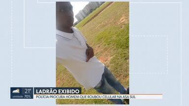 Ladrão faz selfie com celular roubado e é identificado - Crime foi na Asa Sul e a foto foi parar na nuvem de dados da vítima.