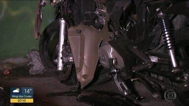 Motociclista morre em domingo de acidentes em SP - Além da morte, no Campo Limpo, um carro envolveu diversos veículos em outro acidente.