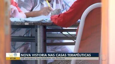 Mais três casas terapêuticas são vistoriadas pelo Ministério Público - Irregularidades foram encontradas, nesta segunda-feira (17).