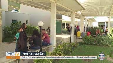 Mulher que morreu após inalar fumaça em protesto será sepultada em Santa Luzia, Grande BH - Edi Alves Guimarães seguia para o trabalho em ônibus que foi bloqueado por barricada de pneus queimados. Ela será velada nesta terça-feira (18).