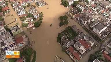 Ruas alagadas dificultam locomoção em Olinda - Algumas vias continuam inundadas mesmo após as chuvas