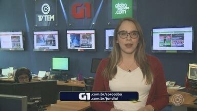 Carol Andrade traz os destaques do G1 Sorocaba nesta terça-feira - A repórter Carol Andrade traz os destaques do G1 Sorocaba nesta terça-feira (18).