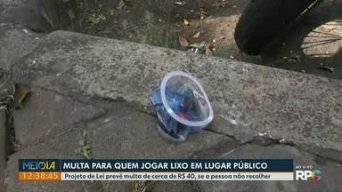 Projeto de Lei prevê multa para quem descartar lixo em lugares públicos - Multa é de cerca de R$ 40.