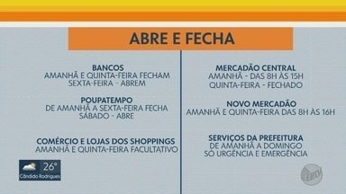 Feriados alteram funcionamento do comércio em Ribeirão Preto, SP - Na quarta-feira (19) é comemorado o aniversário da cidade e na quinta-feira (19) é celebrado Corpus Christi.