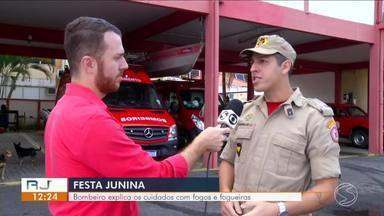Festa Junina: bombeiro explica cuidados com fogos e fogueiras - Entenda os perigos e saiba como se prevenir.
