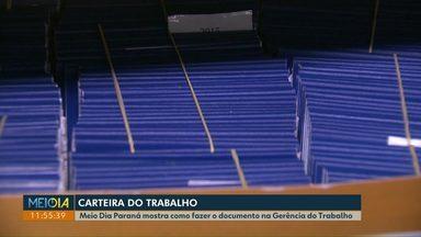 Meio Dia Paraná explica como agendar emissão da carteira de trabalho - O documento pode ser emitido na Agência do Trabalhador ou na Gerência do Trabalho.