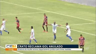Crato reclama gol anulado - Confira mais notícias em g1.globo.com/ce