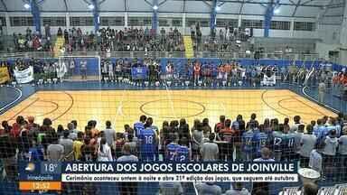 Cerimônia marca abertura dos Jogos Escolares de Joinville - Cerimônia marca abertura dos Jogos Escolares de Joinville