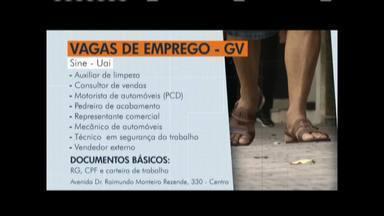 Confira as vagas de emprego disponíveis em Governador Valadares e Caratinga - Dentre as vagas, está a de auxiliar de limpeza, consultor de vendas e motorista de automóveis.