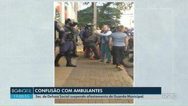 Guarda Municipal de Londrina retorna ao serviço - Ele estava afastado desde a semana passada após o episódio envolvendo camelôs e CMTU no centro da cidade.