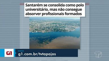 Histórias de profissionais que se formaram e não atuam na sua área é destaque no G1 - Portal está com série de reportagens especiais na semana de aniversário de Santarém.
