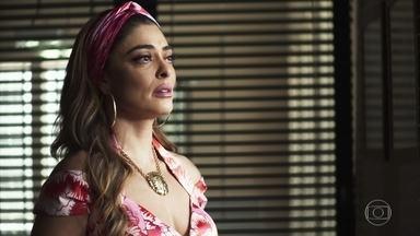 Maria da Paz pergunta por Amadeu para Márcio - Ele afirma que o advogado não pensa em abandonar Gilda