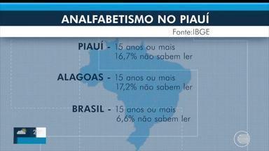 Piauí é o segundo no ranking do analfabetismo - Piauí é o segundo no ranking do analfabetismo