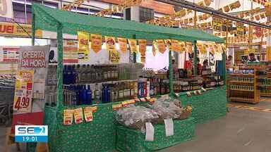 Consumidores antecipam compras produtos típicos do São João em Sergipe - Busca antecipada é para deixar tudo pronto antes da comemoração.