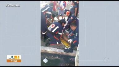 Colisão entre motos deixa duas pessoas feridas na avenida José Bonifácio, em Belém - Acidente aconteceu na manhã desta quinta-feira (20)